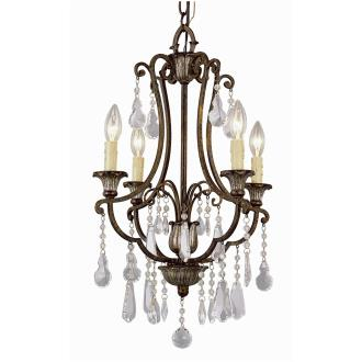 Trans Globe Lighting 3964 Crystal Flair - Four Light Chandelier with Crystal Accent