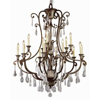Trans Globe Lighting 3965 Crystal Flair - Fifteen Light Chandelier with Crystal Accent