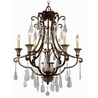 Trans Globe Lighting 3966 Crystal Flair - Six Light Chandelier with Crystal Accent