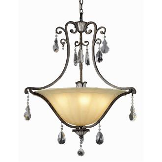 Trans Globe Lighting 3967 Crystal Flair - Six Light Pendant with Crystal Accent