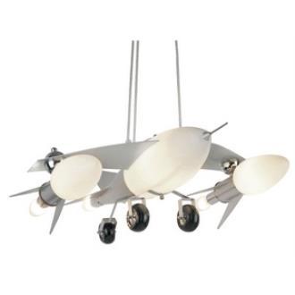 Trans Globe Lighting KDL-852 Six Light Fighter Jet Airplane Drop Pendant