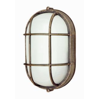 Trans Globe Lighting PL-41015 WH One Light Outdoor Oval Bulk Head