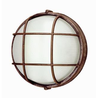 Trans Globe Lighting PL-41515 BK One Light Outdoor Round Bulk Head