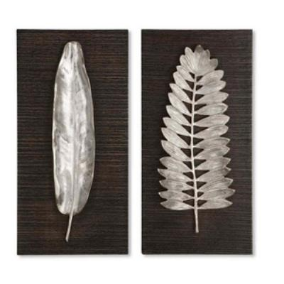 "Uttermost 04001 Silver Leaves - 24"" Wall Art"
