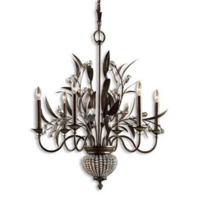 Uttermost 21017 Cristal De Lisbon - Eight Light 2-Tier Chandelier