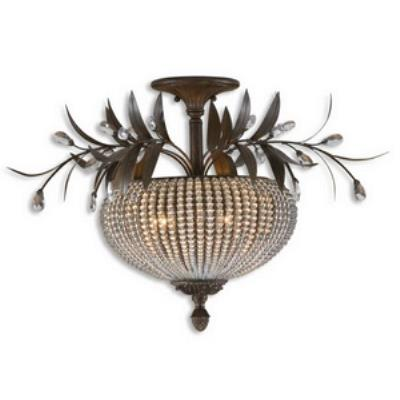 Uttermost 22221 Cristal De Lisbon - Three Light Semi-Flush Mount