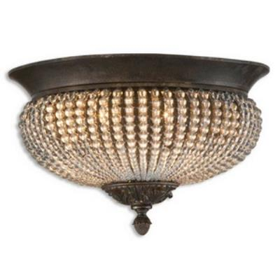 Uttermost 22222 Cristal De Lisbon - Two Light Flush Mount