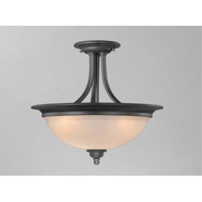 "Vaxcel Lighting AL-CFU150OBB Avalon 15"" Semi Flush Ceiling Light"