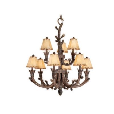 Vaxcel Lighting AS-CHS009PT Aspen - Nine Light Chandelier