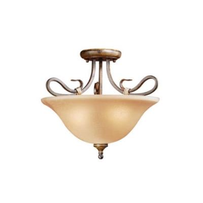 Vaxcel Lighting BE-CFU170AW Berkeley Semi Flush Ceiling Light
