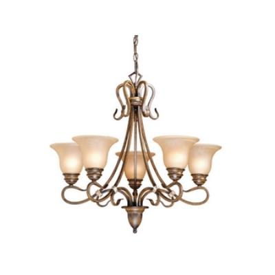 Vaxcel Lighting BE-CHU005AW Berkeley 5L Chandelier
