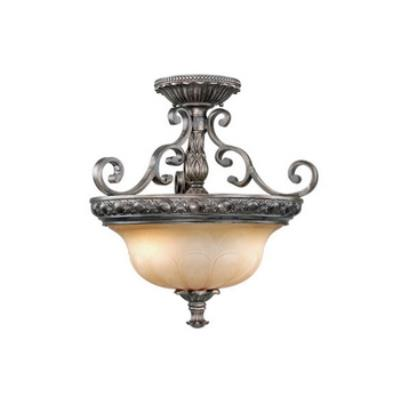 Vaxcel Lighting BG-CFU180PZ Bellagio - Semi-Flush Ceiling (Duo-Mount Pendant)