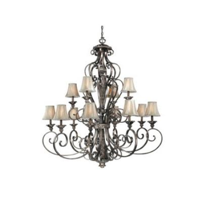 Vaxcel Lighting BG-CHS012PZ Bellagio - Twelve Light Chandelier
