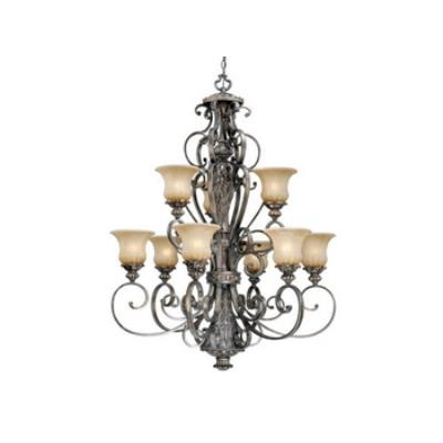 Vaxcel Lighting BG-CHU009PZ Bellagio - Nine Light Chandelier