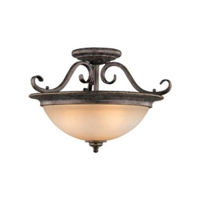 Vaxcel Lighting CF35918AZ/B Mont Blanc Semi Flush Ceiling Light
