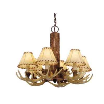 Vaxcel Lighting CH33006NS Lodge - Six Light Chandelier