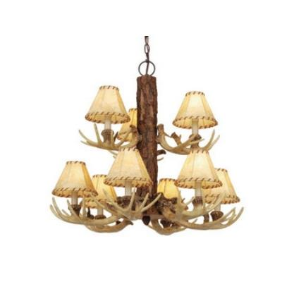 Vaxcel Lighting CH33009NS Lodge - Nine Light Chandelier