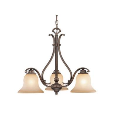 Vaxcel Lighting CH35403RBZ/B Monrovia 3 Light Chandelier
