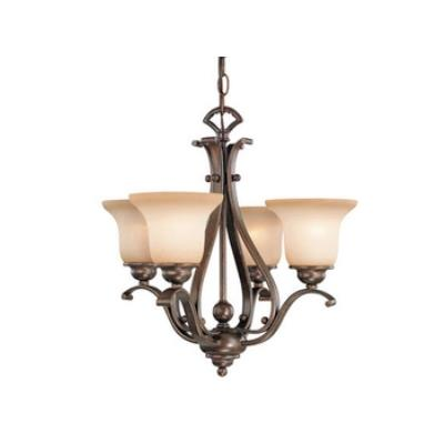 Vaxcel Lighting CH35404RBZ/B Monrovia 4 Light Chandelier
