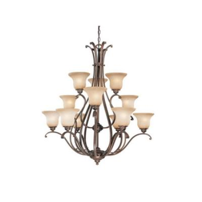 Vaxcel Lighting CH35412RBZ/B Monrovia 12 Light Chandelier