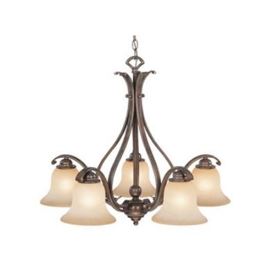 Vaxcel Lighting CH35455RBZ/B Monrovia 5 Light Chandelier