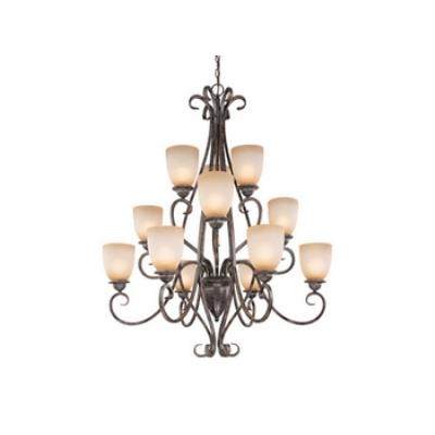 Vaxcel Lighting CH35912AZ/B Mont Blanc 12 Light
