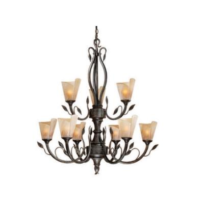 Vaxcel Lighting CP-CHU009BW Capri - Nine Light Chandelier