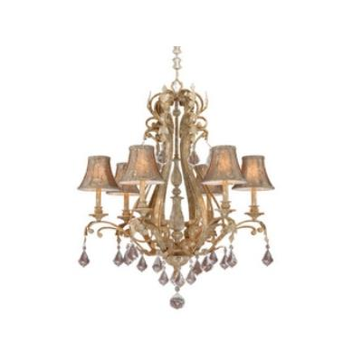 Vaxcel Lighting EP-CHS006PP Empire - Six Light Chandelier