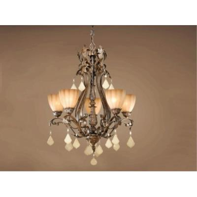 Vaxcel Lighting EP-CHU005AW Empire - Five Light Chandelier