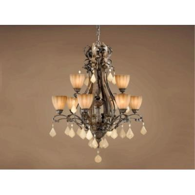 Vaxcel Lighting EP-CHU009AW Empire - Nine Light Chandelier