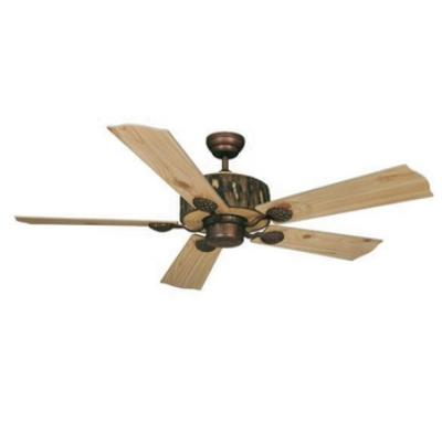 "Vaxcel Lighting FN52265WP Log Cabin - 52"" Ceiling Fan"
