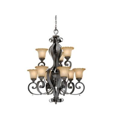 Vaxcel Lighting HB-CHU009OI Hapsburg - Nine Light Chandelier
