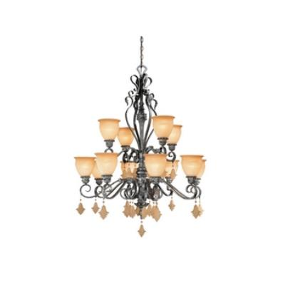 Vaxcel Lighting MM-CHU012AE Montmarte - Twelve Light Chandelier