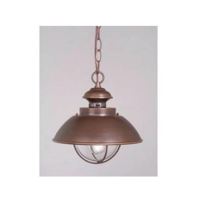 "Vaxcel Lighting OD21506BBZ Nautical 10"" Outdoor Pendant"
