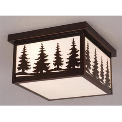 "Vaxcel Lighting OF33412BBZ Yellowstone - 12"" Outdoor Ceiling Mount"