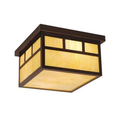 "Vaxcel Lighting OF37211BBZ Mission - 12"" Outdoor Ceiling Mount"