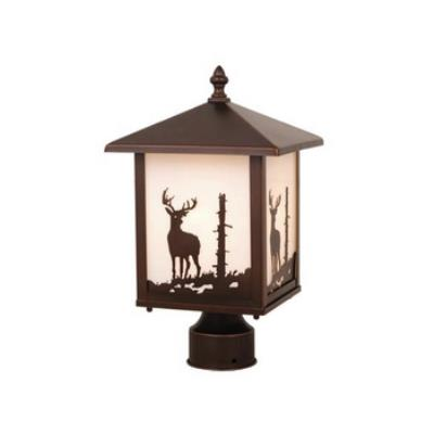 Vaxcel Lighting OP33585BBZ Yellowstone - One Light Outdoor Post Lantern