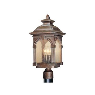 "Vaxcel Lighting OP38795RBZ Essex 9"" Outdoor Post Light"