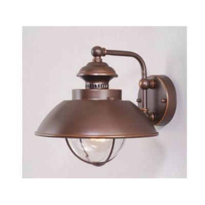 "Vaxcel Lighting OW21501BBZ Nautical 10"" Outdoor Wall Light"