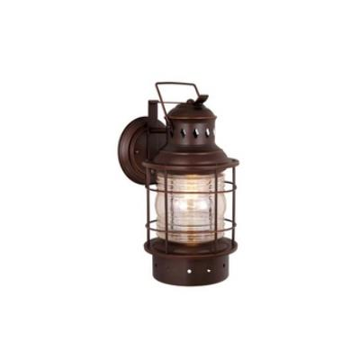 "Vaxcel Lighting OW37051BBZ Nautical 6"" Outdoor Wall Light"