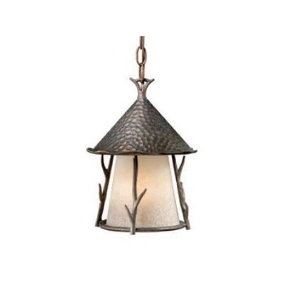 "Vaxcel Lighting WD-ODD090AA Woodland - 9"" Outdoor One Light Pendant"