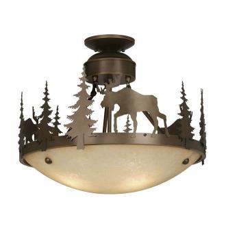 Vaxcel Lighting CF55618BBZ Yellowstone - Three Light Semi-Flush Mount