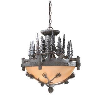 "Vaxcel Lighting CF65219CP Yellowstone - 19"" Semi-Flush Ceiling Mount"