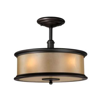 Vaxcel Lighting CR-CFU130NB Carlisle - Three Light Semi-Flush Mount