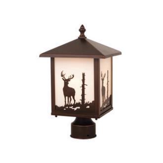 Vaxcel Lighting OP33585BBZ Yellowstone - One Light Outdoor Post Lantern